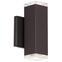 WAC Lighting WS-W61808-BZ Block LED 8 inch Bronze Outdoor Wall Sconce, dweLED