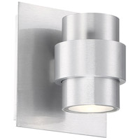 WAC Lighting WS-W64906-AL Barrel LED 6 inch Brushed Aluminum Outdoor Wall Sconce, dweLED