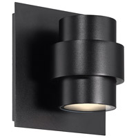 WAC Lighting WS-W64906-BK Barrel LED 6 inch Black Outdoor Wall Sconce, dweLED