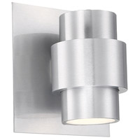 WAC Lighting WS-W64908-AL Barrel LED 8 inch Brushed Aluminum Outdoor Wall Sconce, dweLED