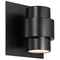 WAC Lighting WS-W64908-BK Barrel LED 8 inch Black Outdoor Wall Sconce, dweLED