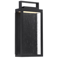 WAC Lighting WS-W68913-BK Farmhouse LED 13 inch Black Outdoor Wall Sconce, dweLED
