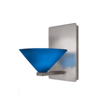 WAC Lighting Contemporary Jill 1 Light Wall Sconce in Brushed Nickel WS58-G512BL/BN
