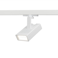 WAC Lighting WTK-LED25F-27-WT Architectural Track System 1 Light White LEDme Directional Ceiling Light in 2700K, 42 Degrees, 120