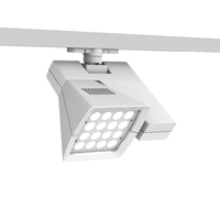 WAC Lighting WTK-LED40E-35-WT Architectural Track System 1 Light White LEDme Directional Ceiling Light in 3500K, 19 Degrees x 32 Degrees, 120 photo thumbnail