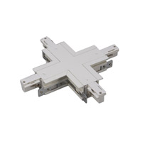 WAC Lighting Track System Recessed Track Connector in White WXC-RT-WT