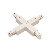 WAC Lighting Track System Recessed Track Connector in White WXC-RTL-WT