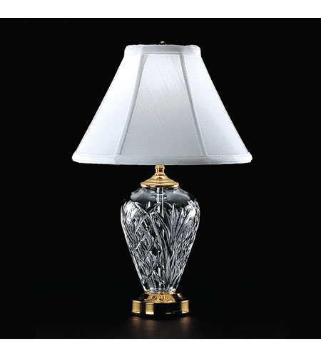Waterford Crystal Polished Brass Kilkenny Accent Lamp  020-465-07-00 photo