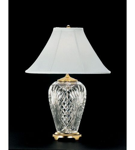 Waterford crystal 020 465 13 10 kilkenny 29 inch 100 watt polished waterford crystal 020 465 13 10 kilkenny 29 inch 100 watt polished brass table lamp portable light aloadofball Image collections