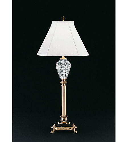 Waterford Crystal Polished Brass Marlow Buffet Lamp 020
