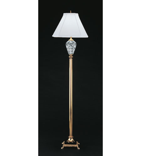 Waterford crystal polished brass marlow floor lamp 020 465 58 11 waterford crystal polished brass marlow floor lamp 020 465 58 11 with shade 931480 aloadofball Gallery