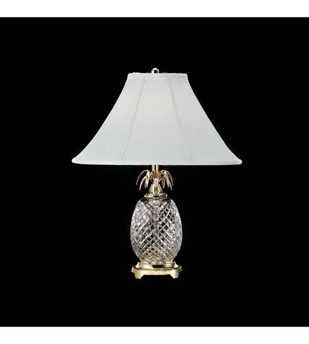 Waterford Crystal Polished Brass Hospitality Table Lamp 028-092-25-00 photo