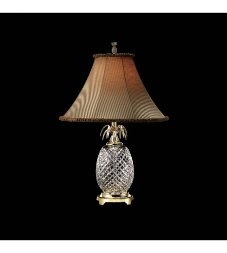 Waterford Crystal Polished Brass Hospitality Table Lamp 028-092-25-0B photo