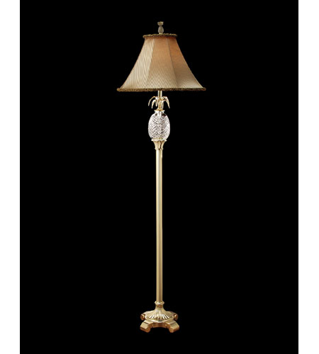 Waterford Crystal Polished Brass Hospitality Floor Lamp  028-092-63-0X & Shade 939490 photo