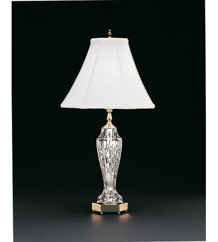 Waterford crystal polished brass evanwood table lamp 059 063 26 10 waterford crystal 059 063 26 10 evanwood 26 inch 100 watt polished brass aloadofball Image collections