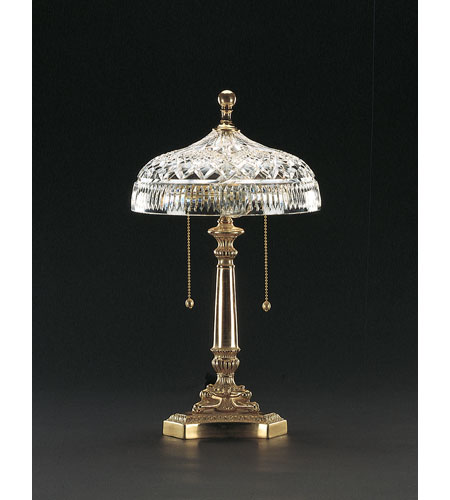 Waterford Crystal Honey Brass Beaumont Accent Lamp  101-519-10-00 photo
