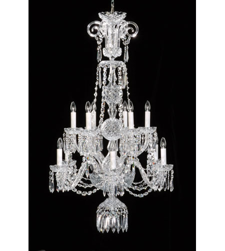 Waterford Crystal Crystal Ardmore Twelve Arm Chandelier 103-396 photo
