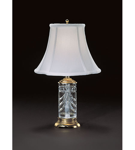 Waterford Crystal Polished Brass Overture Accent Lamp  105-409-18-00 photo
