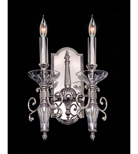 Waterford Crystal Polished Nickel Carina Double Arm Sconce 106-986-14-2P