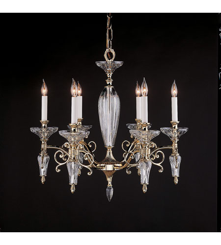 Waterford Crystal Gold-Plated Carina Six Arm Chandelier 106-986-25-00 photo