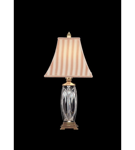 Waterford Crystal 108-297-26-00 Finn 26 inch 100 watt Versailles Brass Table Lamp Portable Light photo