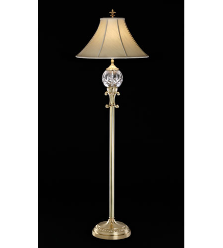 Waterford Crystal Versailles Brass Lismore Floor Lamp  109-670-60-01 & Shade 939860 photo