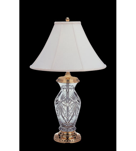 Waterford Crystal Polished Brass Georgetown Table Lamp 116-659-29-00 photo