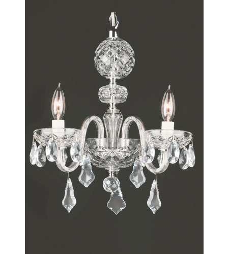 Waterford Crystal Crystal Catrina Three Arm Chandelier 128-807 photo
