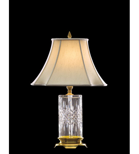 waterford crystal versailles brass lismore reflections table lamp