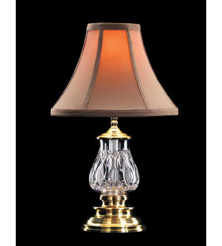 Waterford Crystal Versailles Brass Blue Bell Accent Lamp  135-417-16-00 photo
