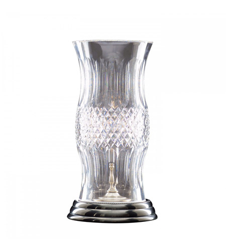 Waterford Crystal 135-870-13-10 Colleen 14 inch 60 watt Antique Nickel Hurricane Lamp Portable Light photo