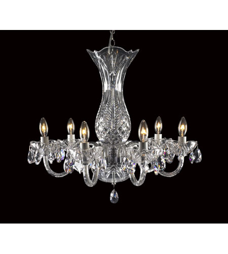 Waterford Crystal 136-406 Bluebell 6 Light 23 inch Crystal Chandelier Ceiling Light photo