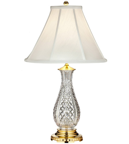 Waterford crystal 40022912 ashbrooke 28 inch polished brass table waterford crystal 40022912 ashbrooke 28 inch polished brass table lamp portable light photo aloadofball Images