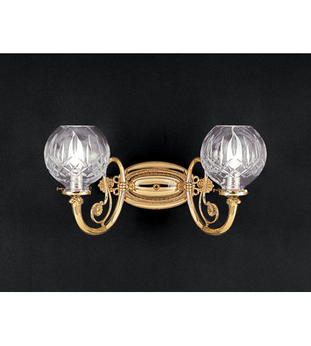 Waterford Crystal Wall Sconces : Waterford Crystal Polished Brass Lismore Double Arm Sconce 879-318-10-15