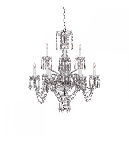 Waterford Crystal 950-000-13-11 Ashbourne 9 Light 28 inch Clear Crystal Chandelier Ceiling Light photo