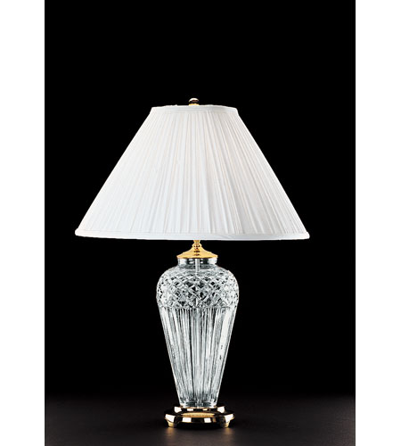 Waterford Crystal Polished Brass Belline Table Lamp 991-934-13-10 photo
