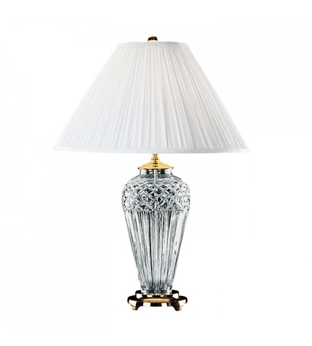 Waterford Crystal 991-934-13-10 Belline 29 inch 100 watt Polished Brass Table Lamp Portable Light photo