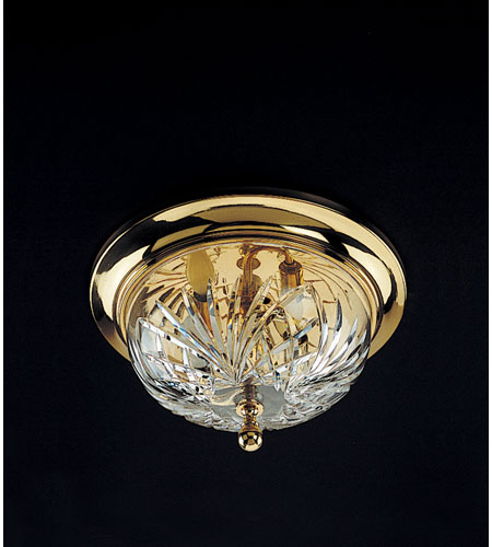 Waterford Crystal Polished Brass Kilkenny Ceiling Fixture 992-465-10-00 photo