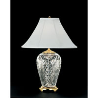 Waterford Crystal 020-465-13-10 Kilkenny 29 inch 100 watt Polished Brass Table Lamp Portable Light