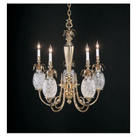 Waterford Crystal Polished  Brass Hospitality Five Arm Chandelier 028-092-28-00