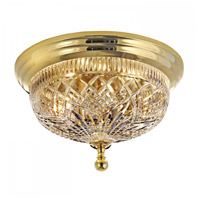 Beaumount 2 Light 12 inch Polished Brass Flush Mount Ceiling Light