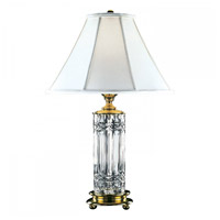 Waterford Crystal 102-947-30-00 Kells 30 inch 100 watt Polished Brass Table Lamp Portable Light