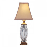 Waterford Crystal 108-892-19-00 Finn 19 inch 60 watt Versailles Brass Accent Lamp Portable Light
