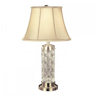 Waterford Crystal 109-790-30-00 Grafix 31 inch 100 watt Silver Table Lamp Portable Light photo thumbnail