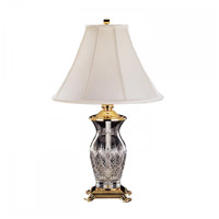 Waterford Crystal 115-012-26-00 Killarney 26 inch 100 watt Polished Brass Table Lamp Portable Light
