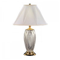 Relfections 30 inch 100 watt Polished Brass Table Lamp Portable Light