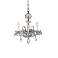 Waterford Crystal 128-807 Catina 3 Light 16 inch Crystal Chandelier Ceiling Light