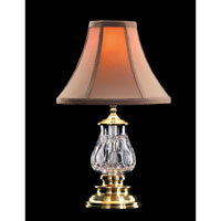Waterford Crystal Versailles Brass Blue Bell Accent Lamp  135-417-16-00 photo thumbnail