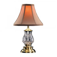 Waterford Crystal 135-417-16-00 Bluebell 16 inch 75 watt Versailles Brass Desk Lamp Portable Light