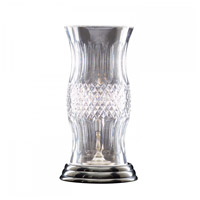 Waterford Crystal 135-870-13-10 Colleen 14 inch 60 watt Antique Nickel Hurricane Lamp Portable Light photo thumbnail